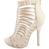 Super Strappy Caged High Heels
