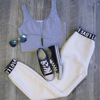 Crazy In Love Pants - White