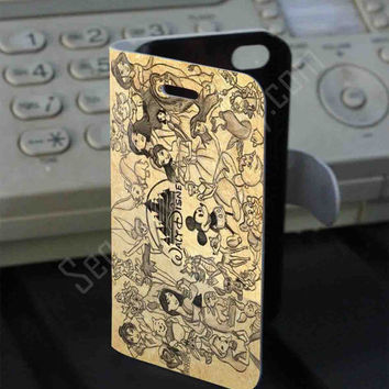 Disney Charakter Leather Folio Case for iPhone and Samsung Galaxy