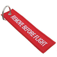 Luggage Tag Zipper Pull Woven Keychain