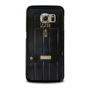 the door of sherlock holmes samsung galaxy s6 case cover  number 1