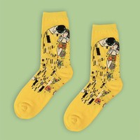 The Kiss (Klimt) Sock | Long