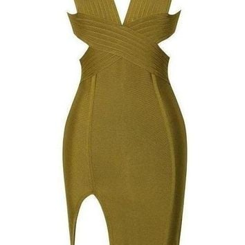 Maeve Bandage Dress - Green