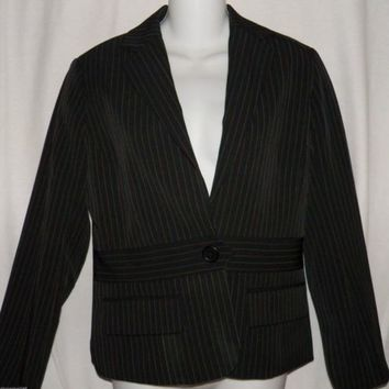 Dalia Size 2P Blazer Pinstriped Black  Jacket
