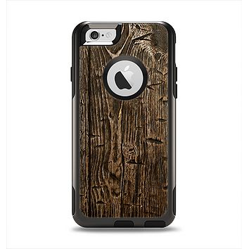 The Rough Textured Dark Wooden Planks Apple iPhone 6 Otterbox Commuter Case Skin Set