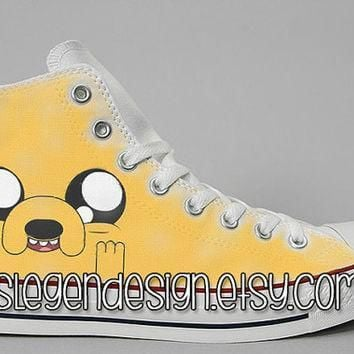 adventure time painted shoes finn and jake custom converse