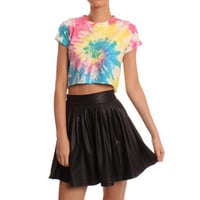 Hearts & Bows Multicoloured Edgeworth Tie Dye Crop Top