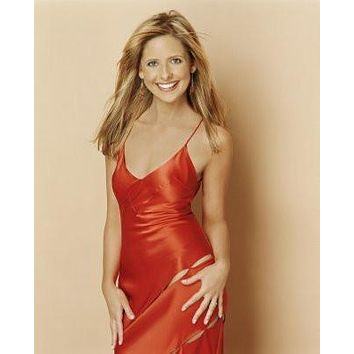 Sarah Michelle Gellar poster Metal Sign Wall Art 8in x 12in