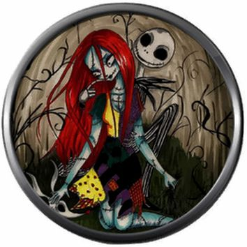 Sally And Jack Skellington True Love Halloween Town Nightmare Before Christmas 18MM - 20MM Snap Jewelry Charm