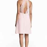 Dress with lace details - Light blue - Ladies | H&M CA
