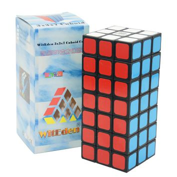 WitEden 3x3x7 Cuboid Cube Puzzle Cubo Magico Child Grownups Brain Teaser Educational Toys Puzzle Cube White and Black