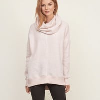 Long Cowl Neck Sweatshirt