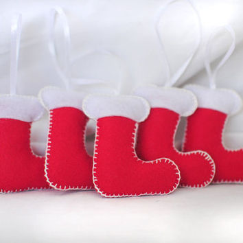Christmas Ornament - Christmas Ornaments - Set 5 Pieces Stoking Christmas Ornaments