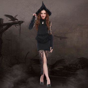 DCCKIX3 Witch Cosplay Anime Cosplay Apparel Halloween Costume [9220887940]