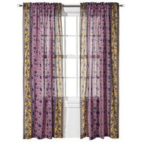 Boho Boutique™ Agyness Rod Pocket Window Panel - Petunia