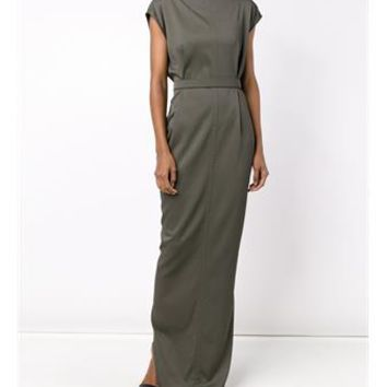 RICK OWENS   Long Belted Dress   brownsfashion.com   The Finest Edit of Luxury Fashion   Clothes, Shoes, Bags and Accessories for Men & Women