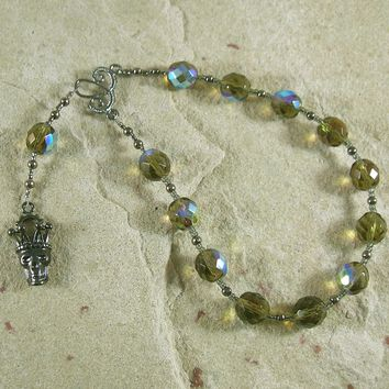 Hades Pocket Prayer Beads: Greek God of Death and the Afterlife, Abundance and Wealth