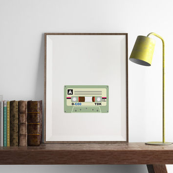Cassette Print | Wall Art | Typography Art | Art Printable | Printable Wall Art | PDF Download | Funny Art