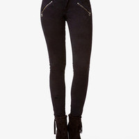 Zippered Skinny Pants
