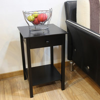 Furnistar Square Accent Table with drawer