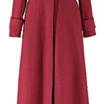 ARRIVE GUIDE Womens Long Sleeve One Button Lapel Long Thick Outwear Peacoat