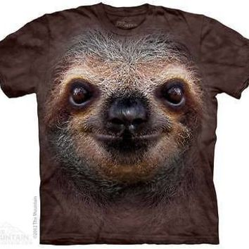 The Mountain SLOTH FACE Adult Men T-Shirt S-2XL Short Sleeve PRINT IN USA