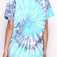 Blue Vortex Tie-dyed T-shirt  from pomelo
