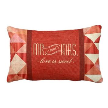 Modern Lines Geometric Mr. & Mrs. coral