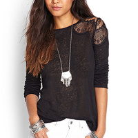 Ornate Lace Linen Top