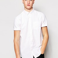 New Look Short Sleeve Shirt in Oxford Stripe