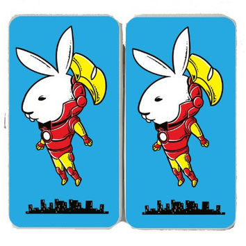 'Bunny Inside' Funny Super Hero Comic & Magazine Parody - Taiga Hinge Wallet Clutch