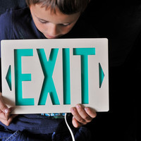 Upcycled Wall Mount Exit Sign by thewildplum on Etsy