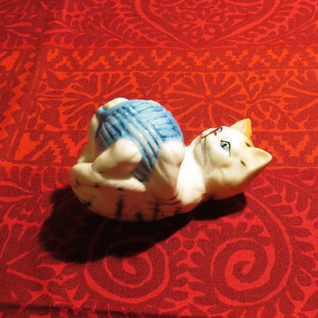 "Danbury Mint Cats Of Character - ""Roly Poly"" - Fine Bone China Figurine - Vintage Collectible"