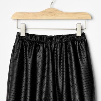 Gap Girls Perforated Faux Leather Flippy Skirt