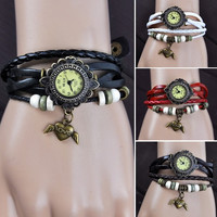 Retro Women Angel Heart Weave Wrap Around Analog Quartz Wrist Watch Bracelet N9B 7_S = 1917033604