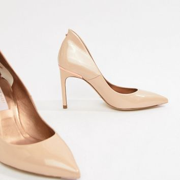 Ted Baker Savio nude patent leather pointed court shoes at asos.com