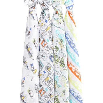 Winnie the Pooh 4-pack Disney baby classic swaddles