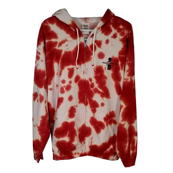 SALE Red White Sweatshirt Tie Dye Hoodie Adult Womens Mens Girls Boys Gift For Him Her Adidas Tumblr Gym Clothes Fall Hooded Sweater Fleece
