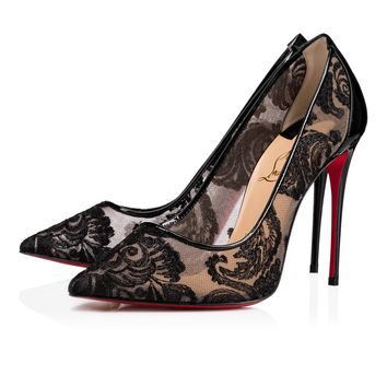 Christian Louboutin Cl Follies Lace Black Dentelle 14w Special Occasion 1180092bk01 - Best Online Sale