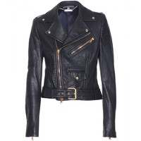 alexander mcqueen - leather biker jacket