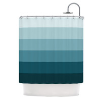 "Trebam ""Cijan"" Navy Teal Shower Curtain"