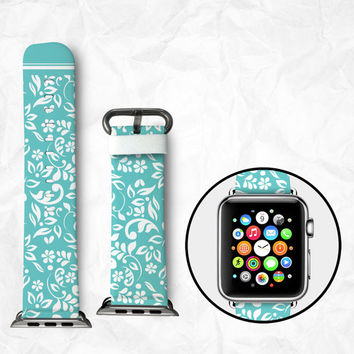 Handmade Apple Watch Strap 38/42mm - Flowers (BBSW009)
