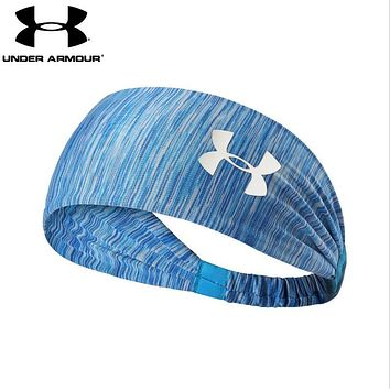 Under Armour Trending Women Men Leisure Gym Casual Headband Yoga Running Headwrap Head Hair Band Light Blue