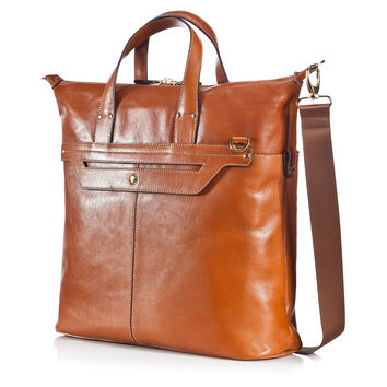 Leather Life Tote, Saddle, Totes