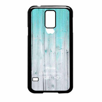 Wood Mint Apple Samsung Galaxy S5 Case