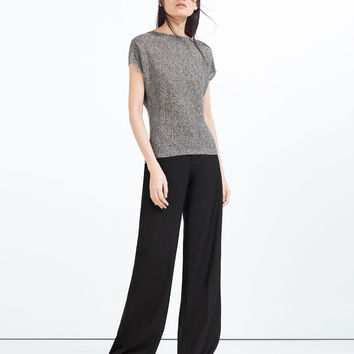CROSSOVER TOP - Tops-KNITWEAR-WOMAN | ZARA United States