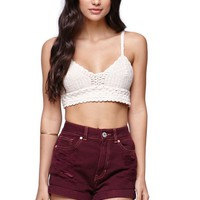 Bullhead Denim Co Burgundy Mom Short - Womens Shorts - Red -