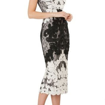 JS Collections Soutache Lace Midi Dress | Nordstrom