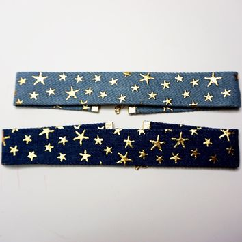 Star Denim Choker