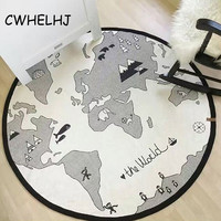 World Map Baby Bedding Cotton Game Carpet Kids Round Racing Games Carpets Children's Room Decoration Sleeping Crawling Rugs
